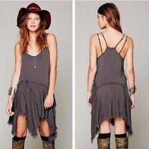 Free People - Frayed Mini Dress - Size XS